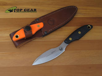 Knives of Alaska Yukon 1 Hunting Knife, D2 Tool Steel , Orange Handle - 00822FG