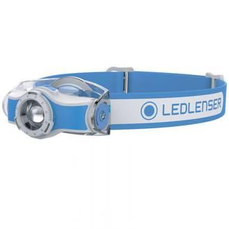 LED Lenser MH5 Rechargeable LED Headlamp 400 Lumens, Blue/White - 501951