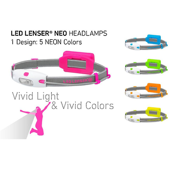 LED Lenser NEO LED Headlamp - 5 Attractive Colours