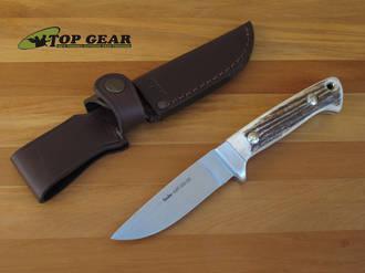 Linder Hunter Knife with Staghorn Handle - 144510