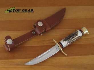 Linder Hunting Knife with Sweden Blade with Staghorn Handle, 9 cm - 141109