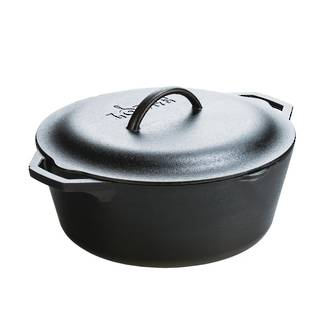 Lodge Pre-Seasoned Cast Iron Dutch Oven with Loop Handle 30 cm 6.6L - L10DOL3