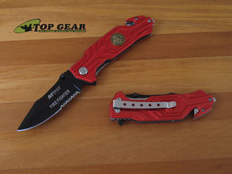 MTech USA Emergency Medical Services Rescue Knife Red - MT-538FF