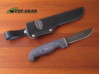 Marttiini Skinner Knife - Black Teflon Finish 167013T