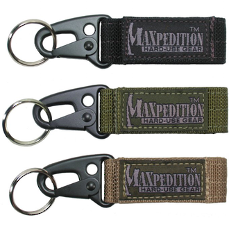 Maxpedition Keyper Key Retention System - Black 1703B or Khaki 1703K