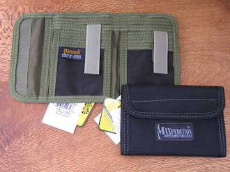 Maxpedition Spartan Nylon Wallet - 0229B Black or 0229G Green
