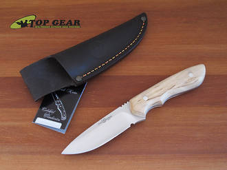 Miguel Nieto Linea Traveller Knife - Curly Birch 11032