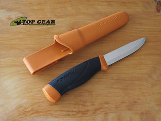 Mora Companion Heavy Duty Knife, Stainless Steel, Burnt Orange - 118093 (3.2mm)