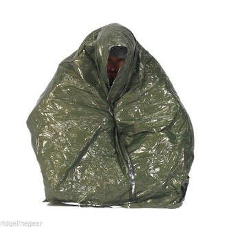 NDUR Emergency Survival Blanket, Olive/Silver – 61420