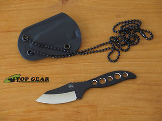 Nemesis NK-4 Hellion Key Chain/Neck Knife, Black Powder Coating - NK-4TT