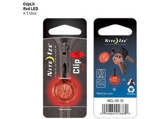 Nite Ize Cliplit Zipper LED Light, Red - NCL-03-10