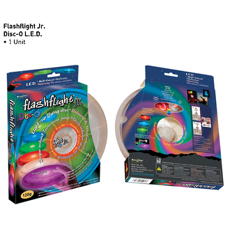 Nite Ize Flashlight Jr. Disco Light-Up Flying Disc - FFJ-08-07