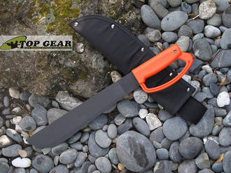 Ontario 12 Inch Camper Machete with D Ring Handle - Orange 8512