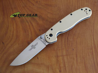 Ontario Knife Rat M1 Folding Knife, Desert, Tan Fine Edge - 8848DT