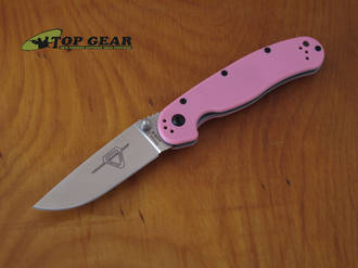 Ontario Knife Company RAT II Pocket Knife, Pink - 8862SP