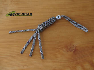 Paracord 550 Knife Lanyard with Skull Bead - Desert Camo PLDE