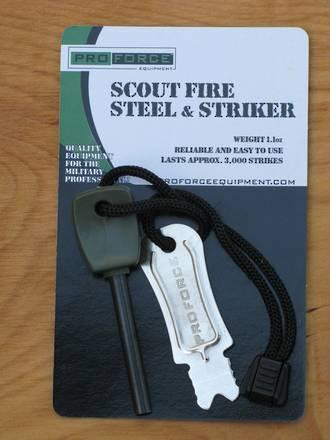 NDUR Scout Firesteel and Striker, Small - 21315