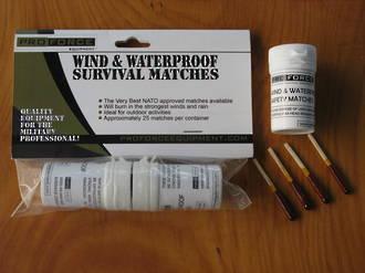 NDUR Wind & Waterproof Survival Matches - 50 Matches