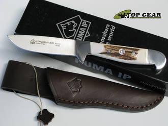 Puma IP Jagdknicker Hunting Knife with Leather Sheath - 800723