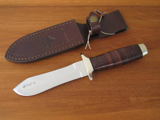 Puma IP White Hunter Knife with Leather Handle - 806374