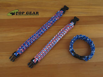 Reactor Tactical Gear Paracord Survival Bracelet - Red, White or Blue