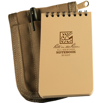 "Rite In The Rain All-Weather Pocket Top 3"" x 5"" Notebook Kit - Tan 935T-KIT"