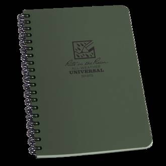 Rite In The Rain All-Weather Side Spiral Notebook - Green 973