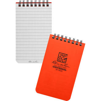 "Rite In The Rain All-Weather Top Spiral 3"" x 5"" Notebook - Safety Blaze Orange - OR35"