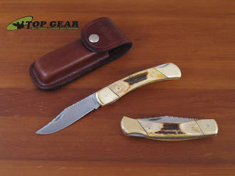 Schrade Uncle Henry Bear Paw Knife - Stag Handle LB7ST