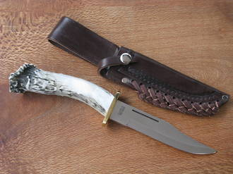 Silver Stag Deep Valley Knife with Stag Handle - DV6.0