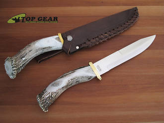 Silver Stag Pacific Bowie Knife with Stag Handle - PB8.0