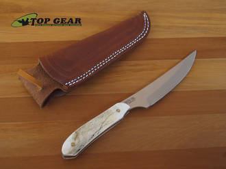 Silver Stag Schnoor Hunter Knife with Stag Handle - SH4.0
