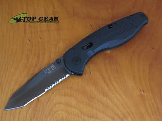 SOG Aegis Tanto Assisted Opening Knife,  Black TiNi - AE04-CP