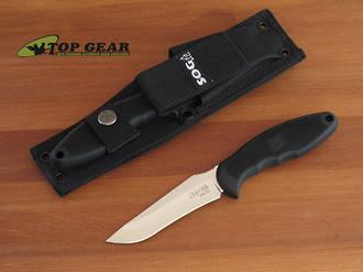 SOG Field Pup Bushcraft Knife with Molle Sheath - FP3-N