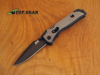 SOG Flashback Mini Assisted Opening Knife - Black Tini SAT102-CP