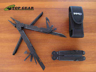 SOG Powerlock Multi-Tool with V-Cuttter, Black Oxide Finish - B63-N