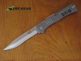 SOG Slimjim XL Assisted Opening Knife, Stainless - SJ-51
