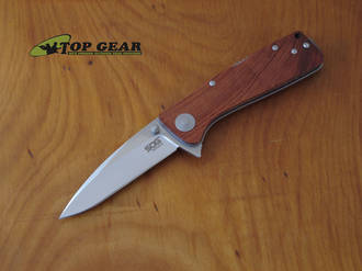 SOG Twitch XL Assisted Opening Knife with Rosewood Handle - TWI24-CP