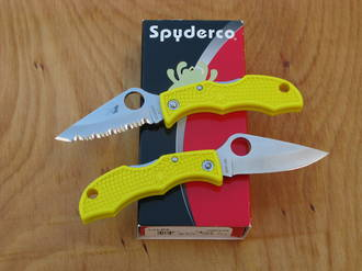 Spyderco Ladybug 3 Salt Knife, H1 Stainless Steel - LYLP3 Plain or LYLS3 Serrated