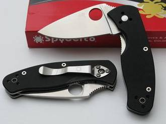 Spyderco Persistence G10 Folding Knife, Fine Edge - C136GP