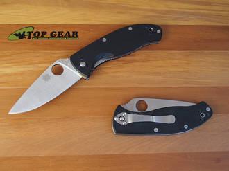 Spyderco Tenacious Folding Linerlock Knife, Fine Edge - C122GP