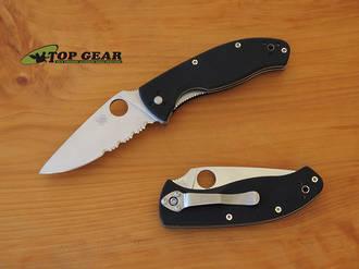 Spyderco Tenacious Folding Linerlock Knife, Combo Edge - C122GPS