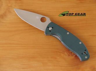 Spyderco Tenacious Folding Knife with Green Handle - C122GPGR