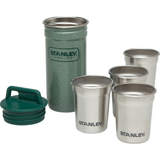 Stanley Adventure Packable Stainless Steel Shot Glass Set - 4x 59 ml - 10-01705-003