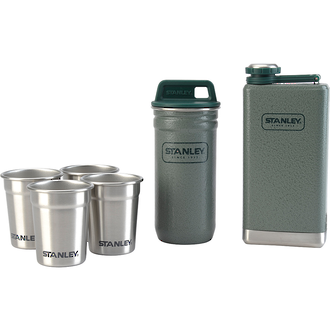 Stanley Adventure Stainless Steel Shot Glass Set and Hip Flask - 10-01883-001