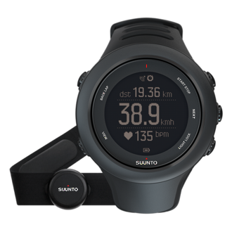 Suunto Ambit3 Sport Black HR GPS Watch with Heart Rate Monitor - SS020678000