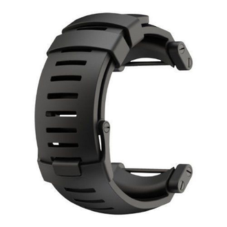 Suunto Core Black Rubber Strap with Lugs Black - SS018816000