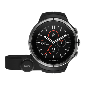 Suunto Spartan Ultra Black GPS Touch Screen Watch with HR Monitor - SS022658000