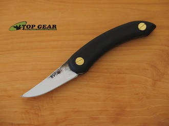 Svord Chip Thwitel Whittling / Carving Knife, Black Handle - CHW