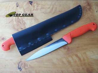 "Svord 6 3/4"" Kiwi Pig Sticker Knife with Orange Polypropylene Handle - KPS"
